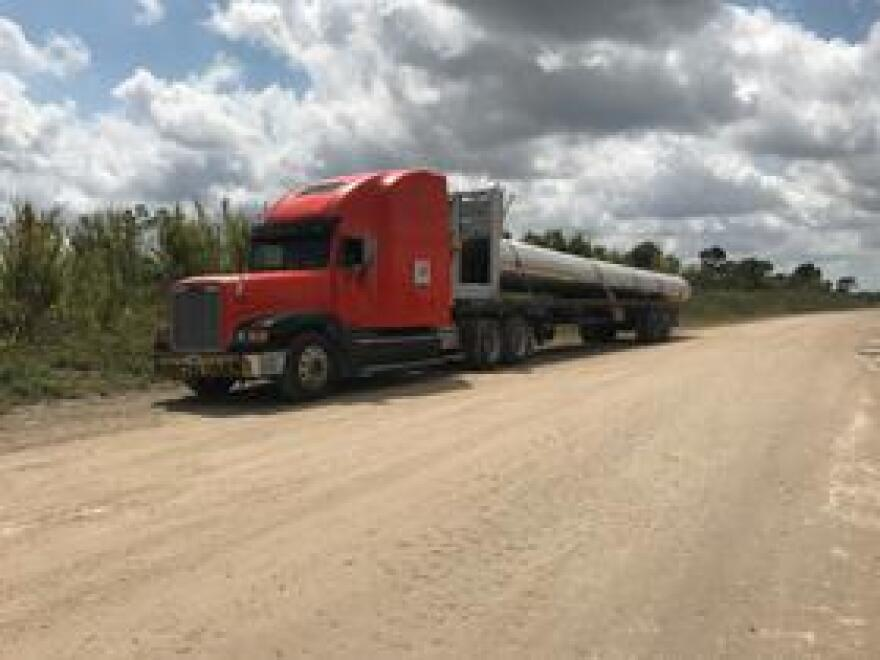 Project manager Jorge Jaramillo said the pipe was manufactured in Florida and brought to the construction site southwest of Homestead by a Pinellas Park trucking company.