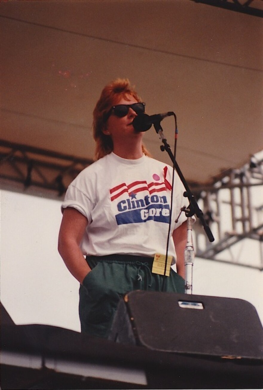 Emily Saliers at the March on Washington for Lesbian, Gay, and Bi Equal Rights and Liberation in 1993