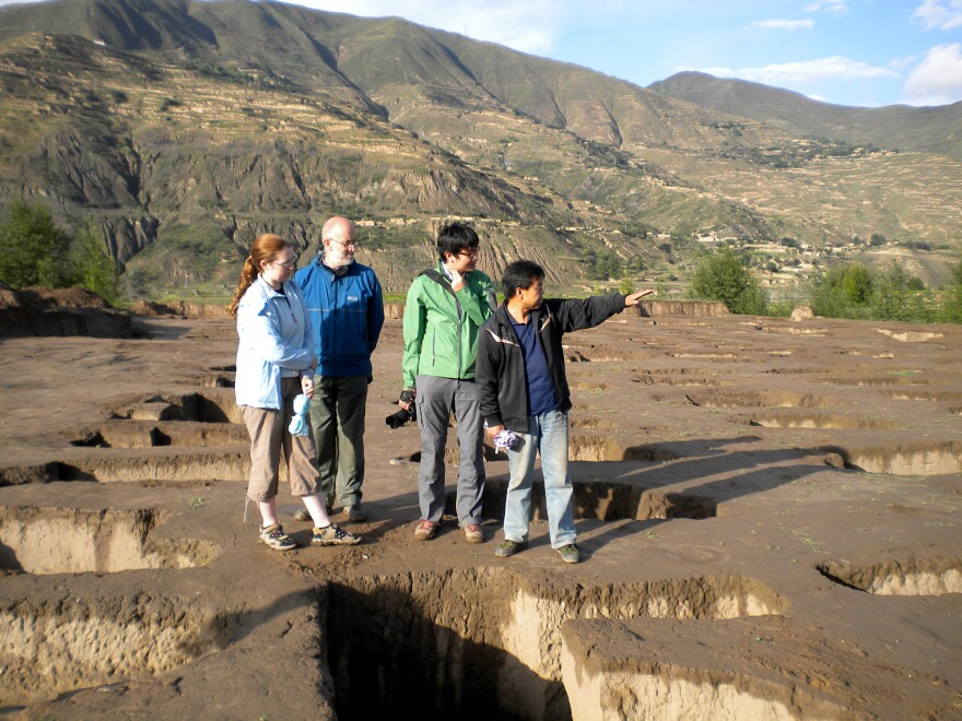 Researchers at a Neolithic site in Mogou, in western China, where eastern and western cereals met.