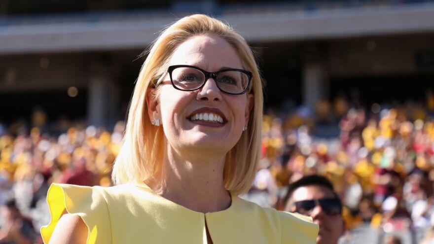 Democrat Kyrsten Sinema is projected to win the Arizona Senate race, according to the Associated Press.