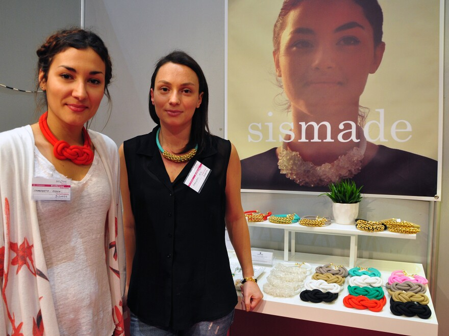 After they lost their jobs, Eleni Garanzioti, left, 24, and her sister Gogo Garantzioti, 28, started an online jewelry shop, Sismade, in their hometown of Kyparissia, Greece.