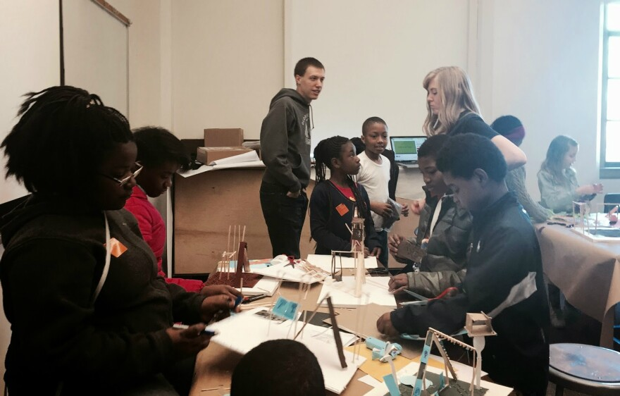 Young students learn about design, architecture and working together at the Alberti Program.