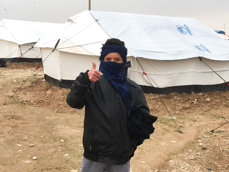 Ahmed, 15, escaped with some of his relatives after living for years under ISIS. Now they are staying in the al-Hol camp near the Iraqi border. Two of his uncles were captured and jailed by ISIS as they tried to flee their village.