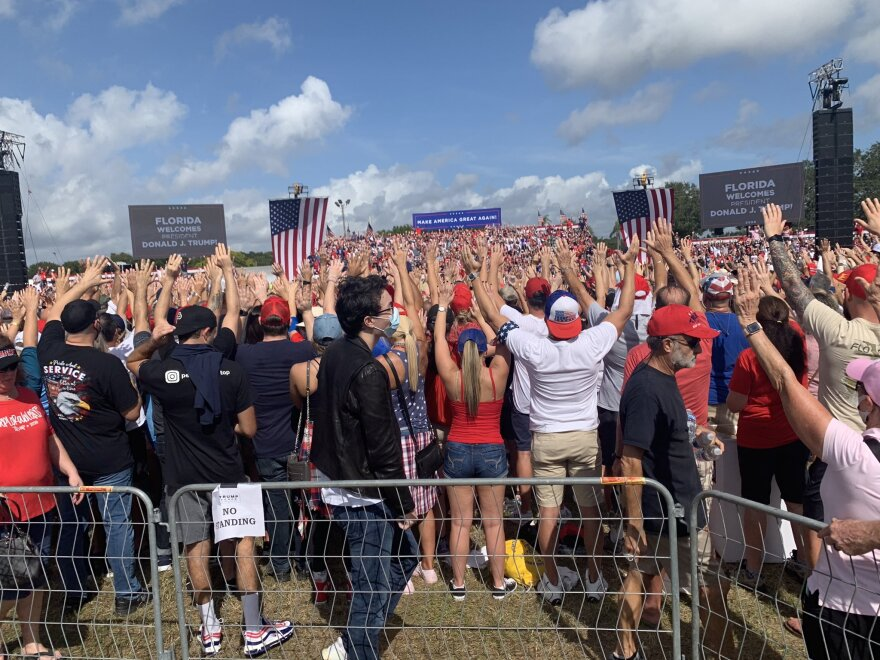 Crowd at the Trump rally in Tampa