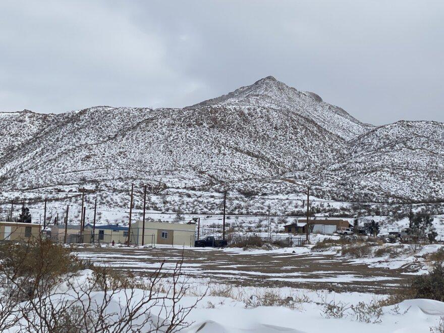 snowy mountain in el paso