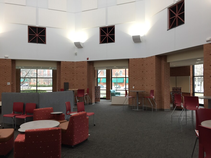 Interior of the Renovated Clark County Public Library Rotunda