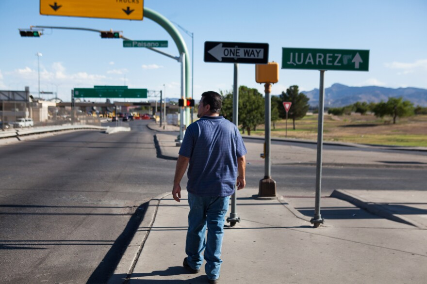 Palma walks toward one of the international bridges between El Paso and Ciudad Juárez. After almost two years in detention, Palma was finally set free on Jan. 5.