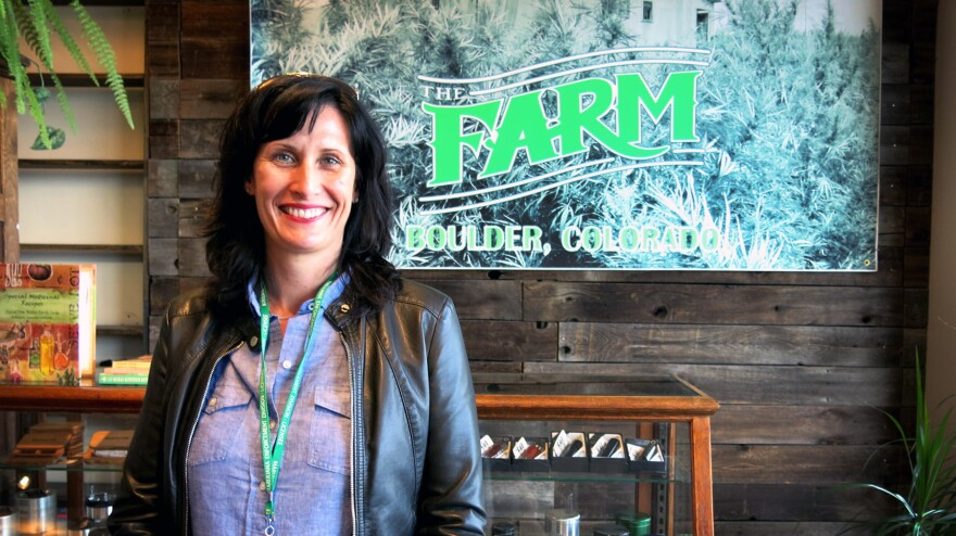 Alison Ledden, marketing director for The Farm, a recreational marijuana store in Boulder, Colo., says some customers come in thinking they're at a specialty grocer, not a marijuana store.