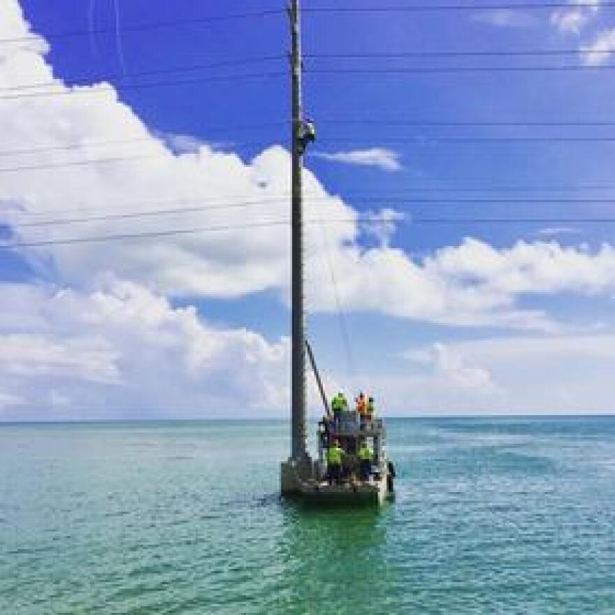 Knowing that it is in a marine environment in a hurricane zone, Keys Energy Services works on storm-hardening its system year-round.