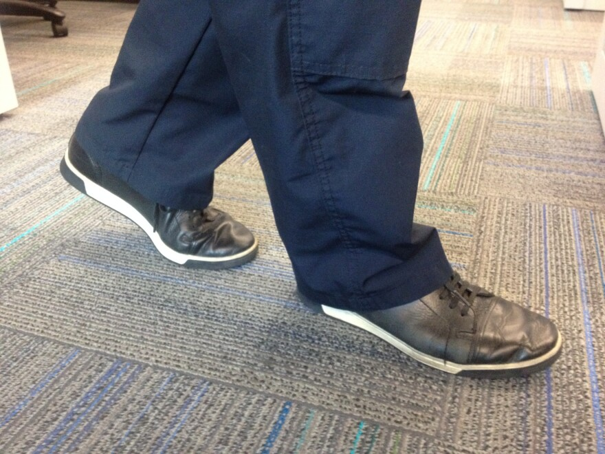 """A recent UM study says having """"walking"""" business meetings can improve your health."""
