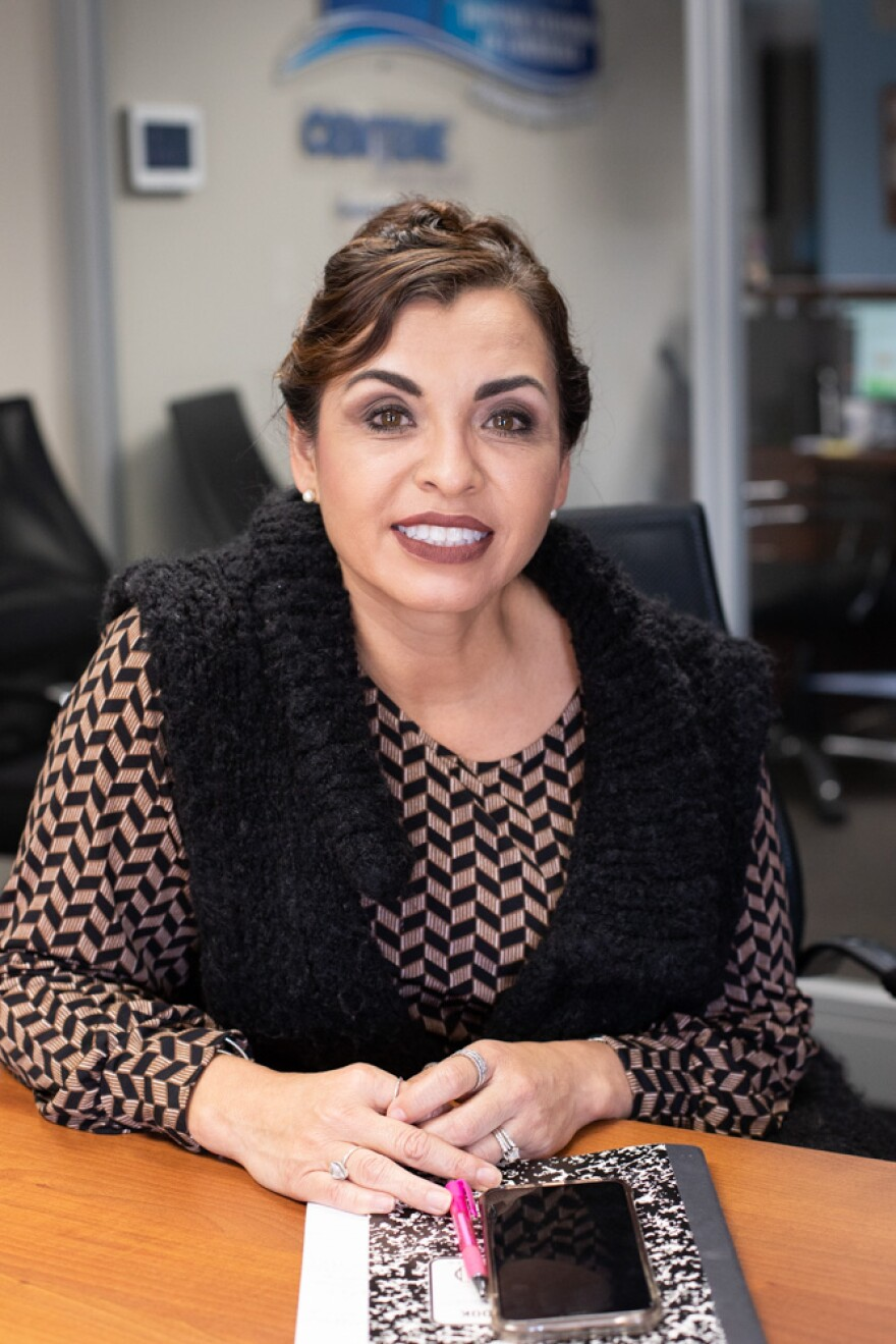 Gabriela Ramirez-Arellano works with Latino business owners and helps them find the resources they need through the Hispanic Chamber of Commerce of Metropolitan St. Louis. 11/11/19