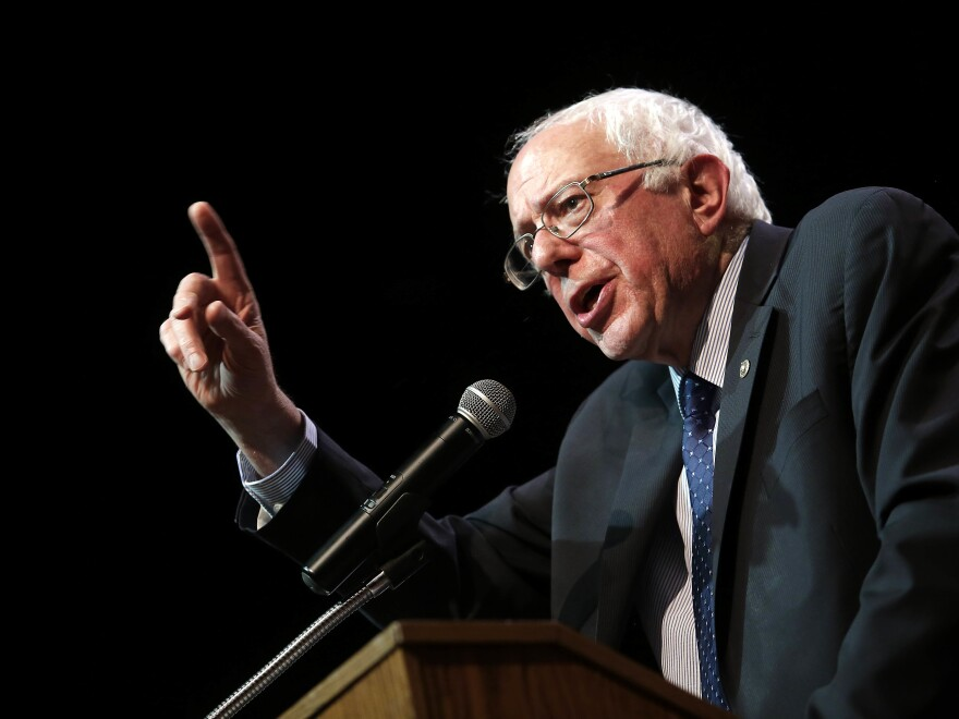 Sen. Bernie Sanders speaks during a news conference on Dec. 23, 2015, in Chicago, Ill.