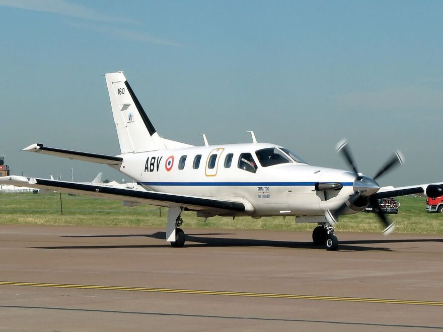 """NORAD <a href=""""https://twitter.com/NoradNorthcom/status/507937429379371008"""">identified</a> the plane that crashed off the coast of Jamaica, after flying for several hours with an unresponsive pilot at the helm, as a Socata TBM-700, similar to this one."""