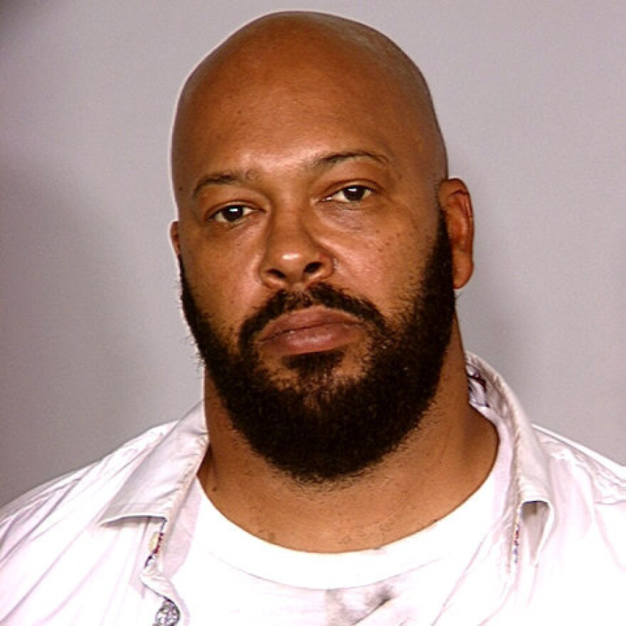 """This photo released by the Las Vegas Metropolitan Police Department shows rap music mogul Marion """"Suge"""" Knight after he was arrested in Aug. 2008, in Las Vegas."""