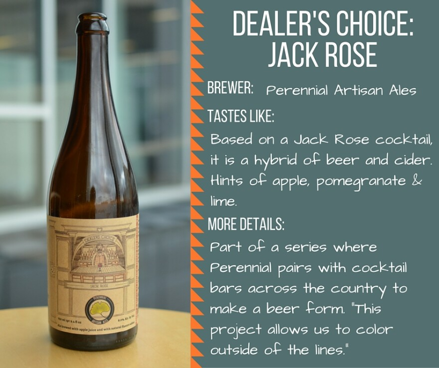 TAsting card Dealer's Choice Jack Rose
