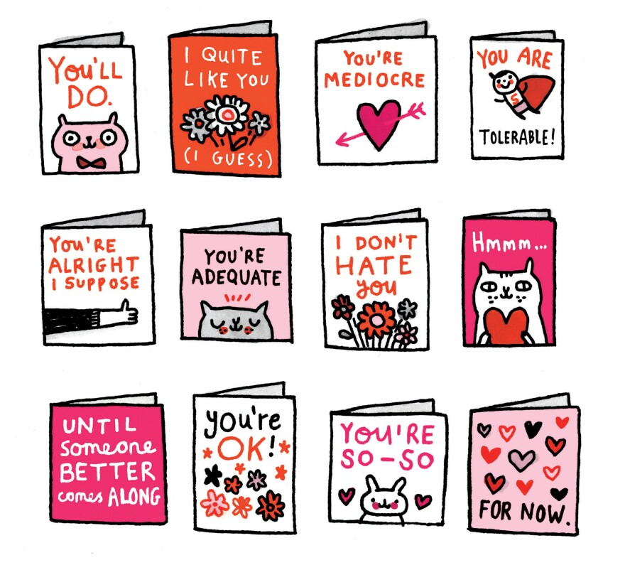 Noncommittal valentines by Gemma Correll.