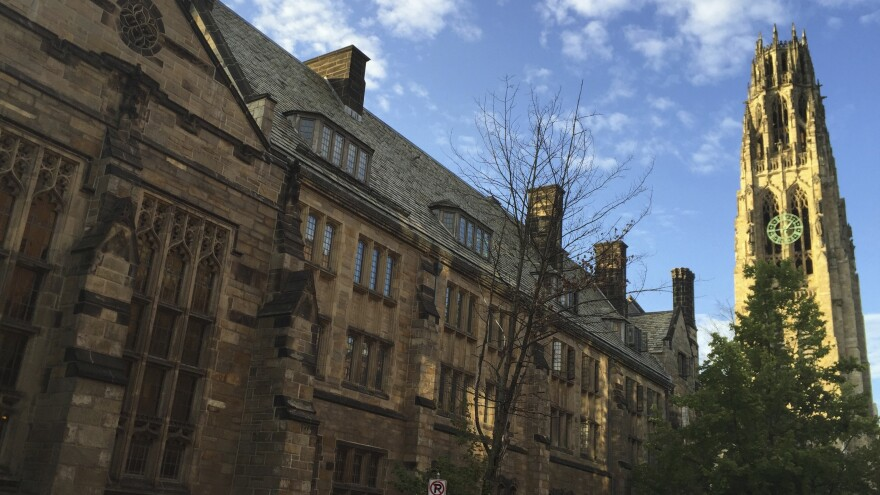 Harkness Tower on Yale University's campus in 2016. The Department of Education said Yale failed to disclosed a total of $375 million in foreign money.