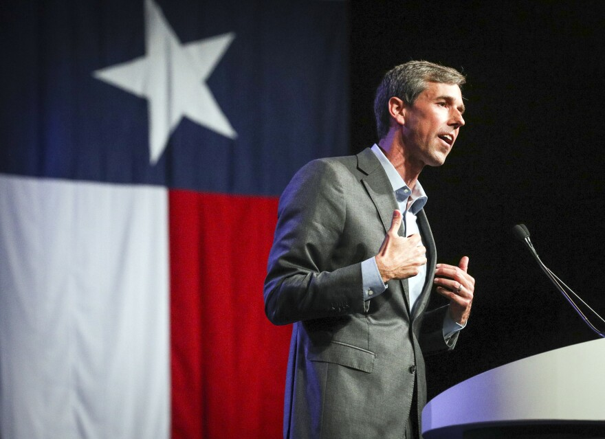 Rep. Beto O'Rourke speaks during the general session at the Texas Democratic Convention Friday, June 22, 2018, in Fort Worth, Texas. (Richard W. Rodriguez/AP)