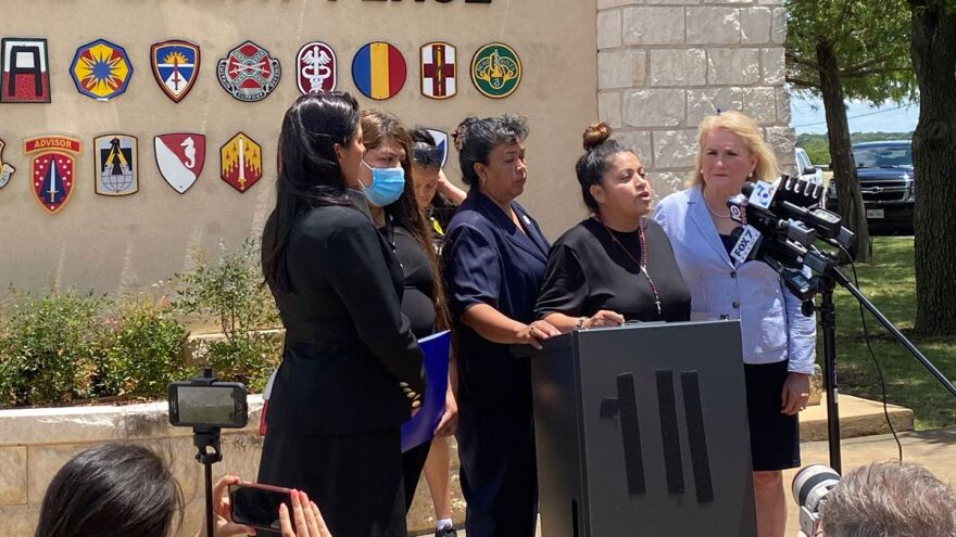 The family of missing Fort Hood Pfc. Vanessa Guillen held a news conference Tuesday after meeting with post officials.