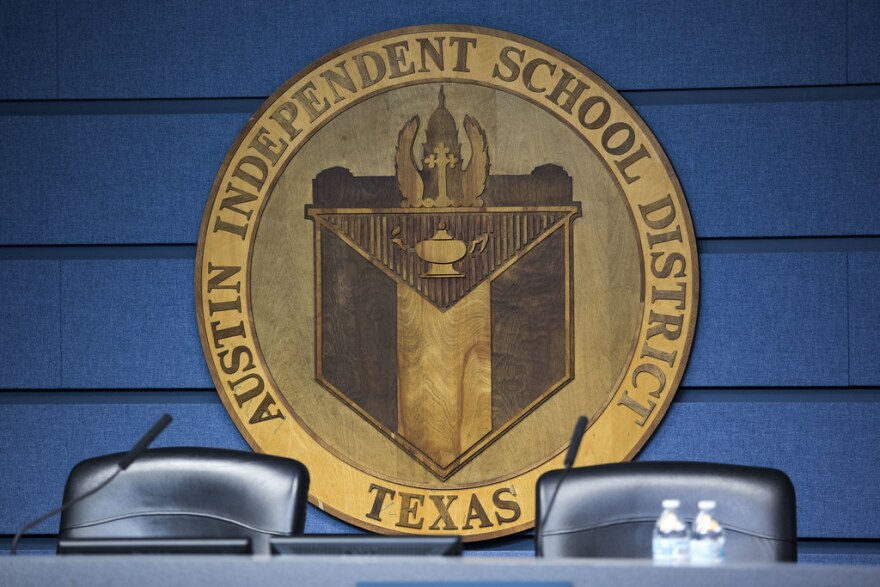 Austin Independent School District Board of Trustees dias