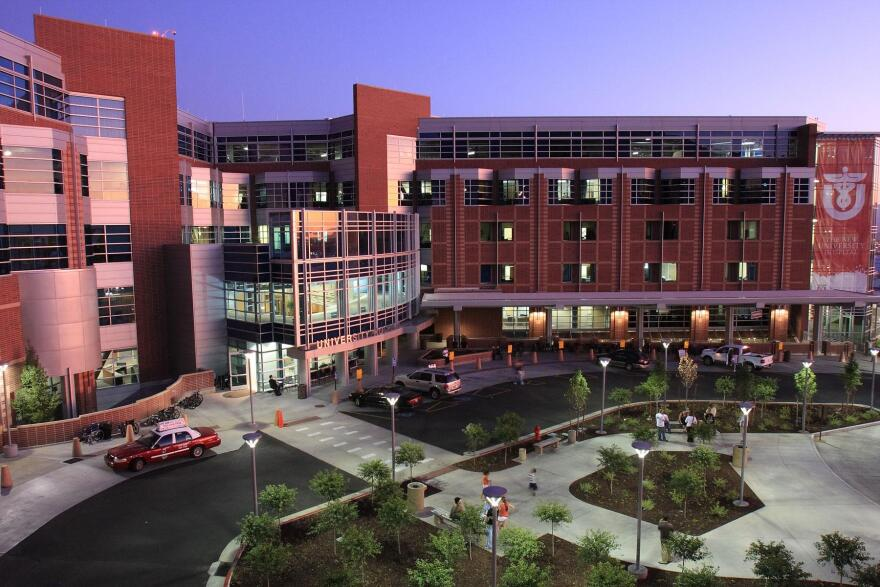 Photo of the outside of the University of Utah Hospital building