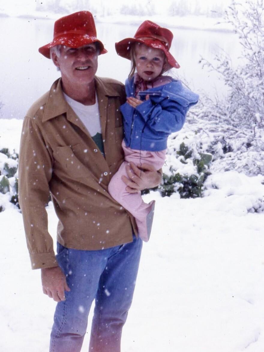 "John Minor with his daughter Jackie Minor on July 4, 1982, in Virginia Lakes, Calif. Jackie calls her dad's death in his sleep last September ""very peaceful."""