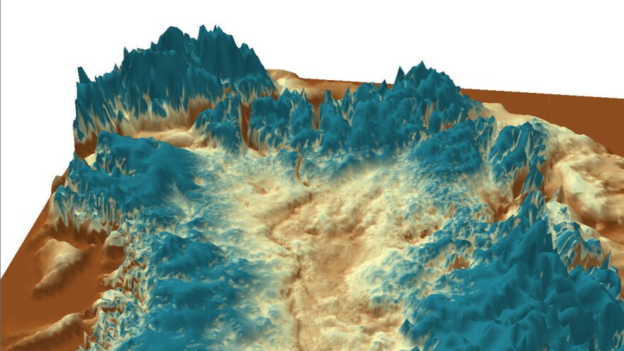 A little chilly for camping: Ice-penetrating radar revealed a mega-canyon below the Greenland ice sheet, extending for more than 460 miles.