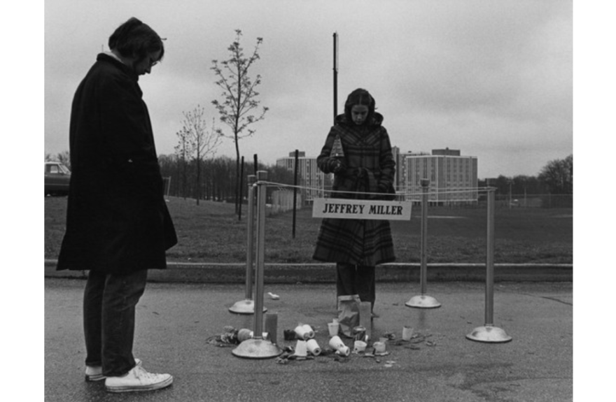 photo of students during the 1974 Annual Commemoration of the Kent State shootings