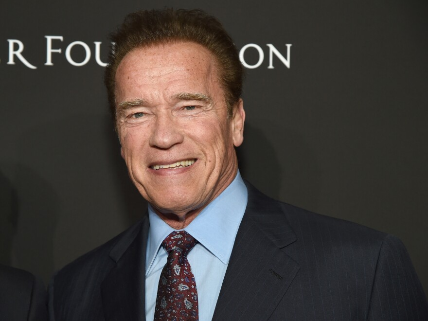 In an emotional video posted Sunday, former California Gov. Arnold Schwarzenegger, seen here in 2018, compared Wednesday's assault on the U.S. Capitol to Kristallnacht — or the Night of Broken Glass — an infamous night in 1938 when Nazi sympathizers stormed through Jewish neighborhoods in Germany.