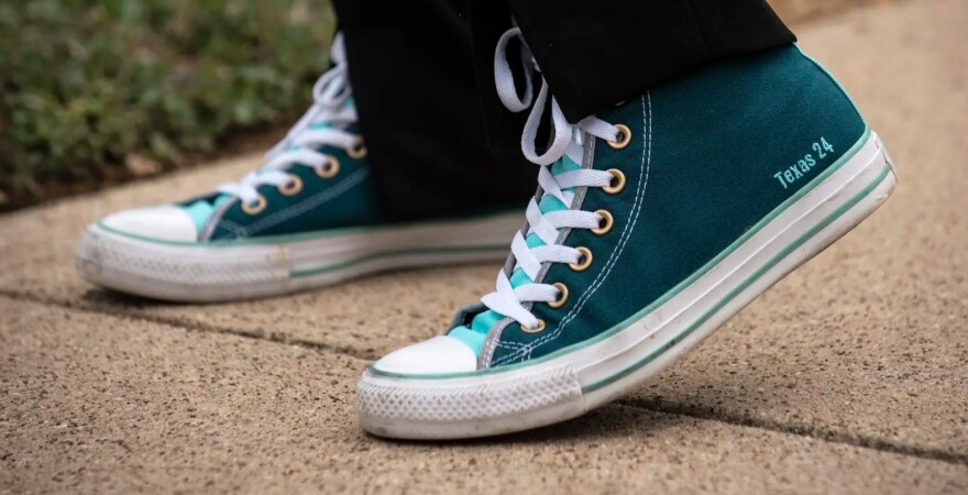 """Custom Converse shoes with """"Texas 24"""""""