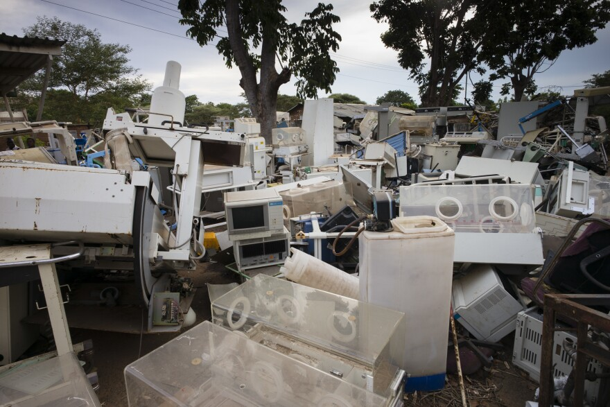 A dumping ground for old medical equipment in Malawi.