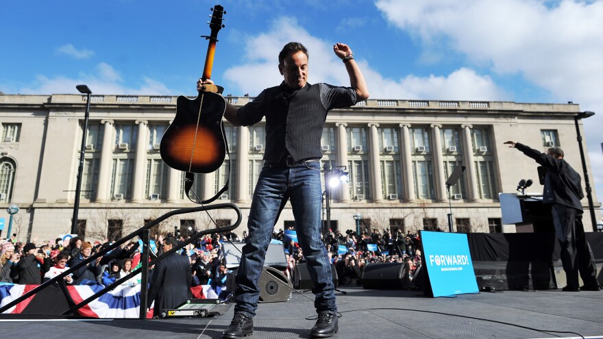 "Bruce Springsteen has complained that his song ""Born in the USA"" has been played or quoted by Bob Dole, Pat Buchanan and Ronald Reagan. Springsteen performed at campaign events for Barack Obama in 2008 and 2012."