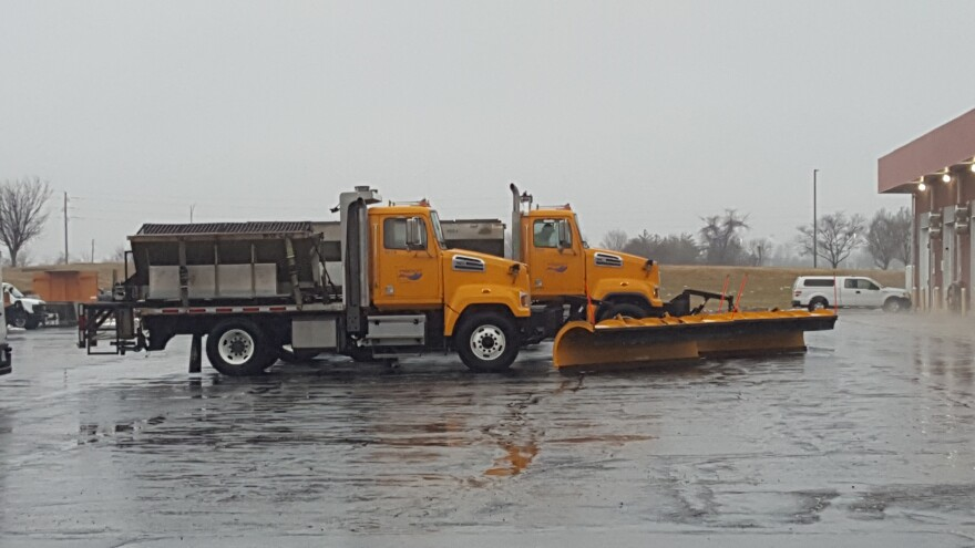 Missouri Department of Transportation employees in Lee's Summit prepare to treat roads. State officials hope a proposed pay raise reduces employee turnover.