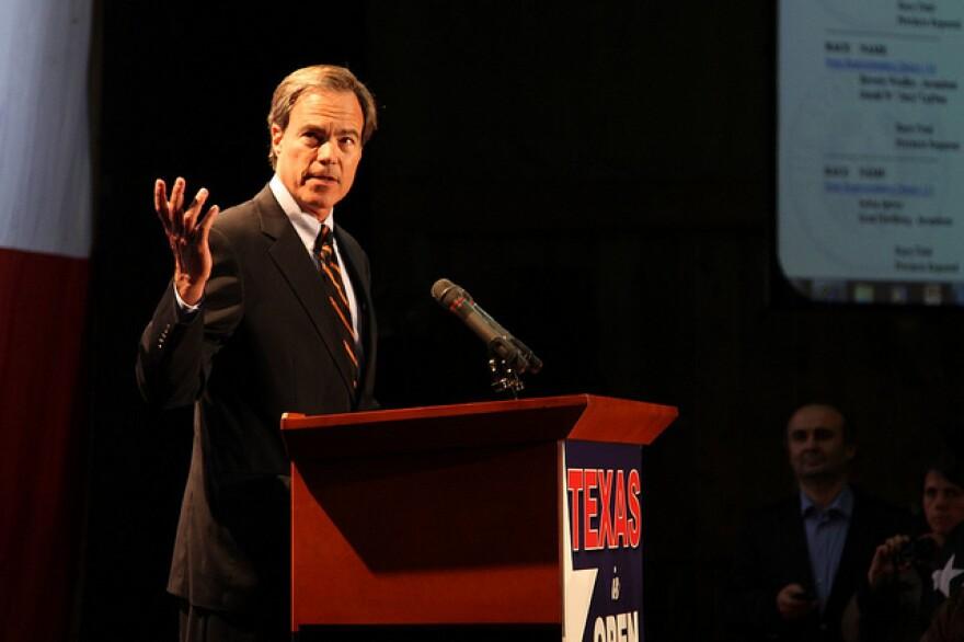 Joe Straus (R-San Antonio) celebrates GOP victories on Election Night
