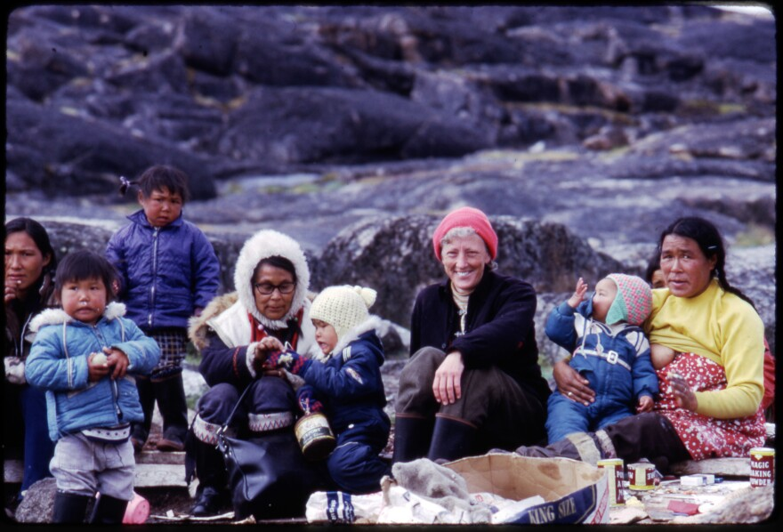 For more than 30 years, the Inuit welcomed anthropologist Jean Briggs into their lives so she could study how they raise their children. Briggs is pictured during a 1974 visit to Baffin Island.