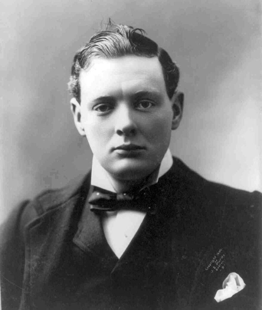 A photo of Winston Churchill in 1900, which is around the time period where Hero of the Empire takes place.