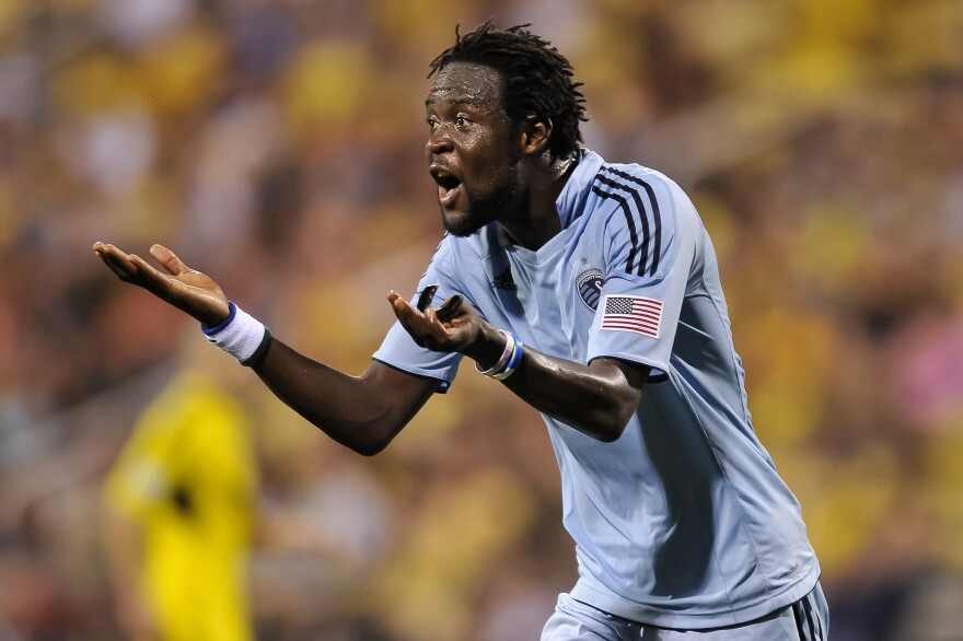 Kei Kamara, who now plays for U.S. Major League Soccer, says people get nervous when they find out he's from Sierra Leone.