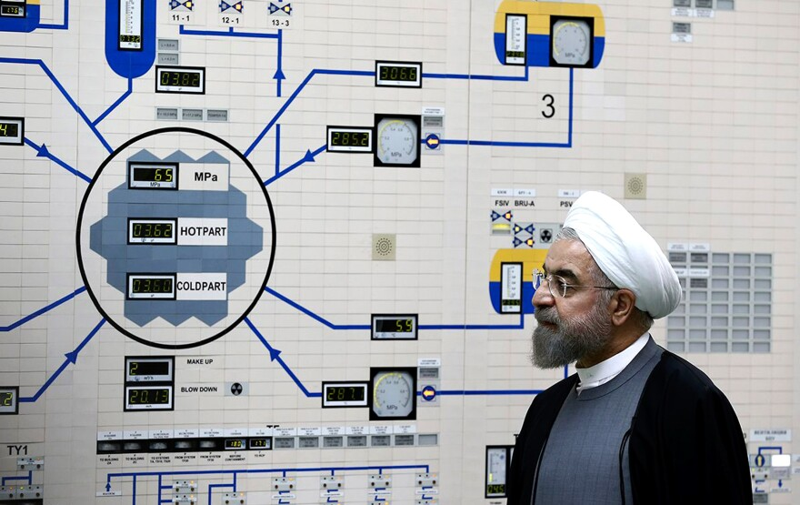 President Hassan Rouhani visited the Bushehr nuclear power plant in January. Rouhani, a former nuclear negotiator for Iran, supported the talks that led to the nuclear deal this summer between Iran and six world powers.
