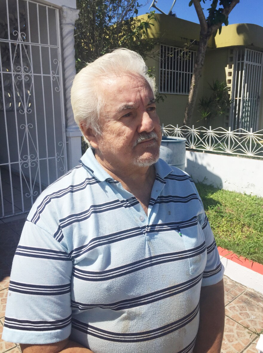 After a lifetime of agricultural work on the U.S. mainland, Ausberto Maldonado retired home to a suburb of San Juan, Puerto Rico. But he has diabetes, and especially since Hurricane Maria, has been struggling to get by.