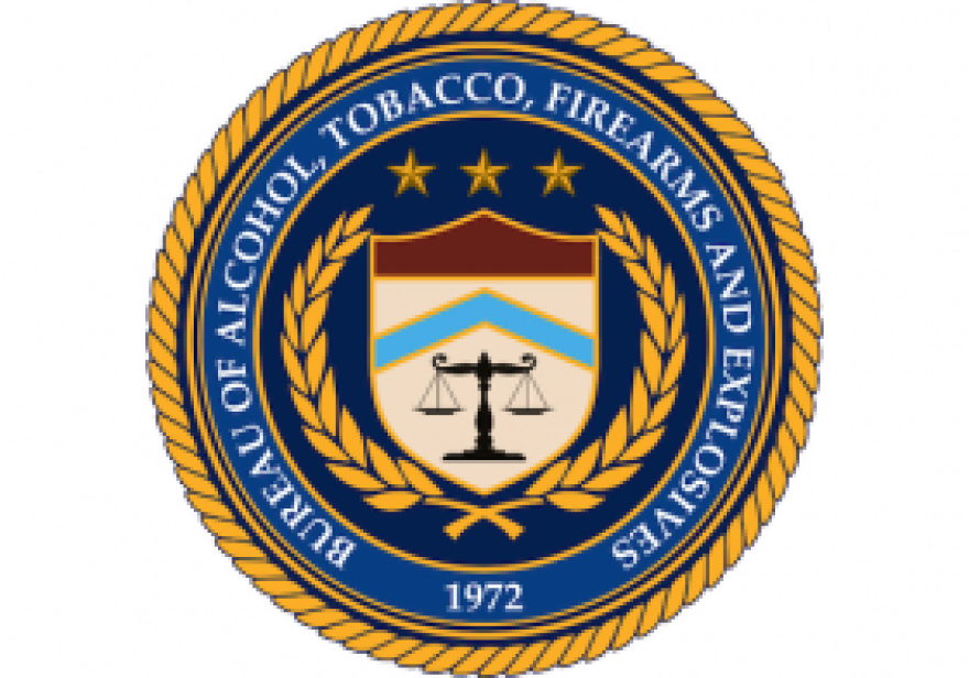 Insignia of the U.S. Bureau of Alcohol, Tobacco, Firearms and Explosives.