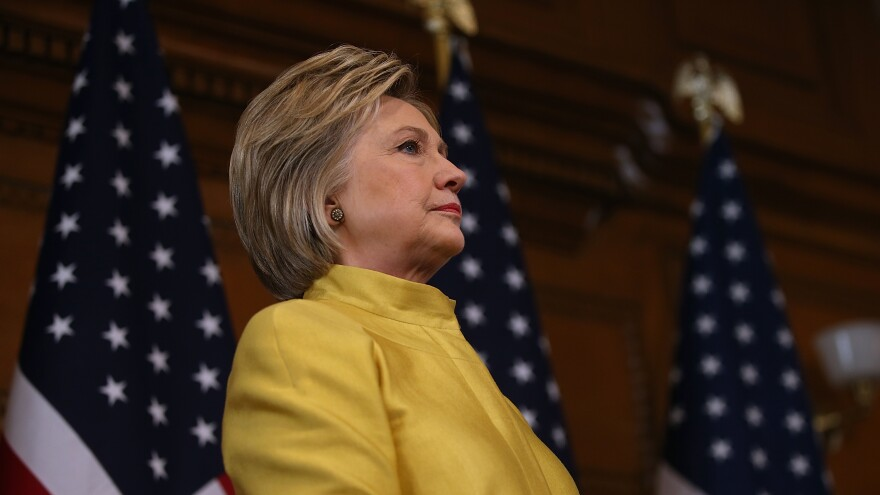 Democratic presidential candidate Hillary Clinton spoke about counterterrorism strategy during an address at Stanford University on Wednesday.