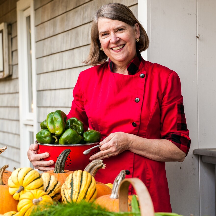 """""""Processing 17,000 pounds of local tomatoes and another 20,000 pounds of apples and cranberries is back-breaking work. I am only doing it because no one else is,"""" says Cheryl Wixon."""