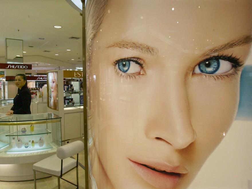 The cosmetics department at a Bangkok store.
