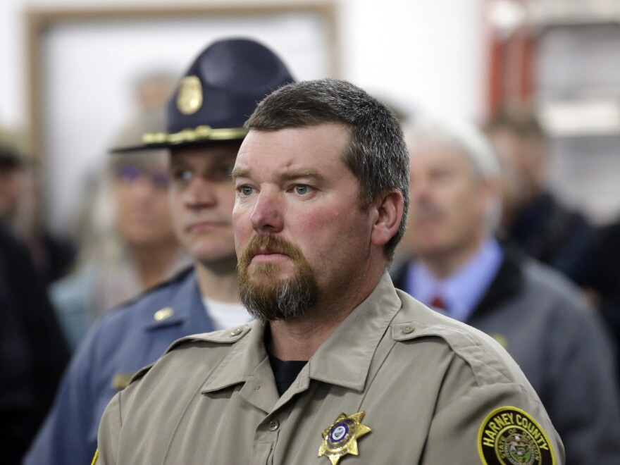 "Harney County Sheriff David Ward called for an end to the occupation, saying there ""doesn't have to be bloodshed"" in the community."