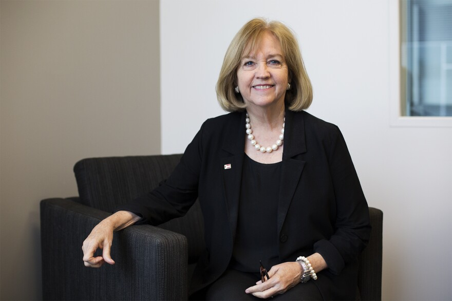St. Louis Mayor Lyda Krewson poses for a photo at St. Louis Public Radio. 10/10/19