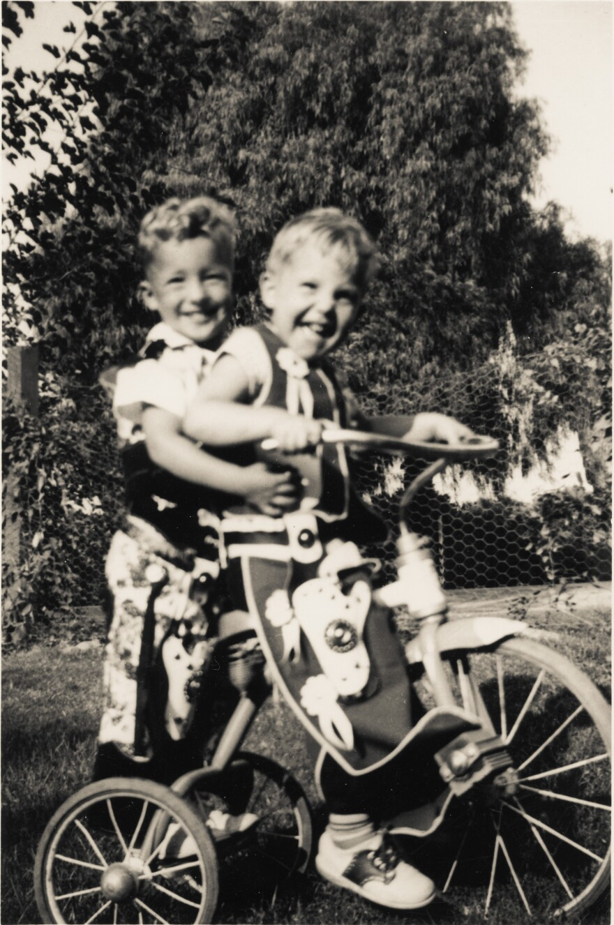 Barry Romo and his nephew Bobby. They were the same age.