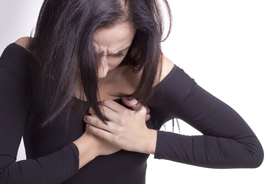 Chest pain's a common sign of heart attack, but women often don't have the usual symptoms.