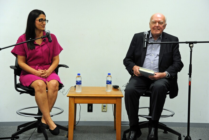 "Dr. Mona Hanna-Attisha talked with Don Marsh about her book, ""What the Eyes Don't See: A Story of Crisis Resistance and Hope in an American City"" at the St. Louis County Library on June 28."