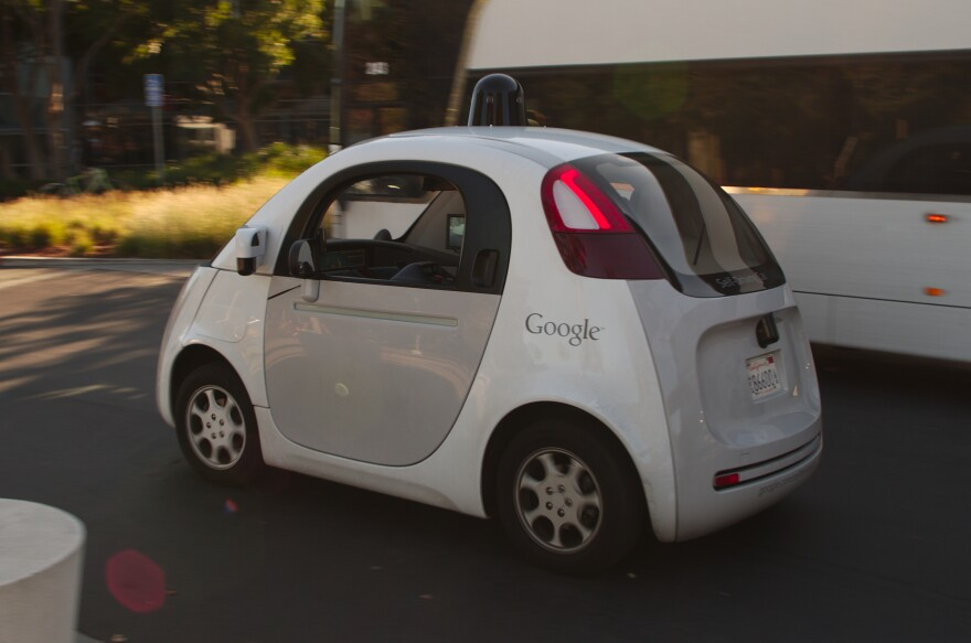 A self-driving Google car, with no human on board. Such vehicles would be allowed to operate in Florida once they're capable of it.