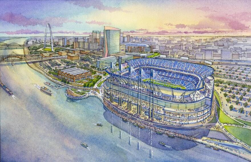 new stadium, St. Louis Rams